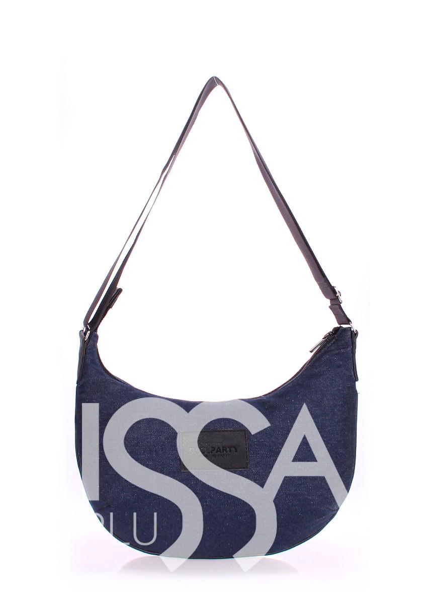 Джинсовая сумочка с удобным ремнем на плечо