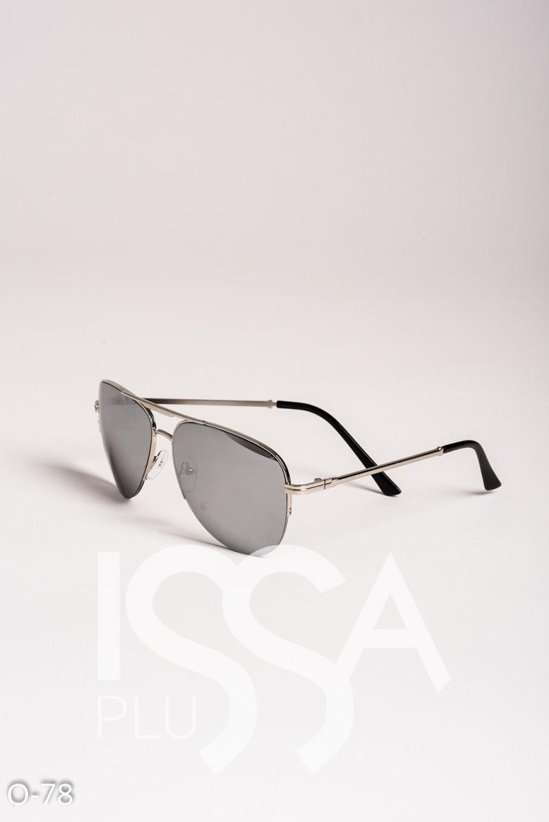 Серые классические очки-авиаторы