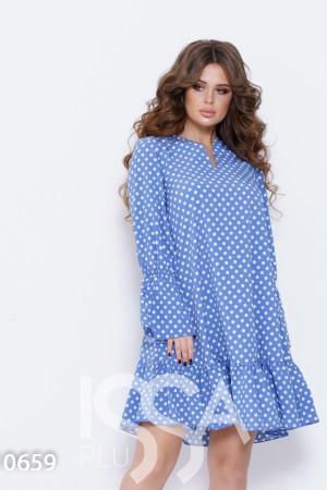 9aba74fc5bd Женские платья в горох цвет голубой  купить в горох голубой цвет в ...