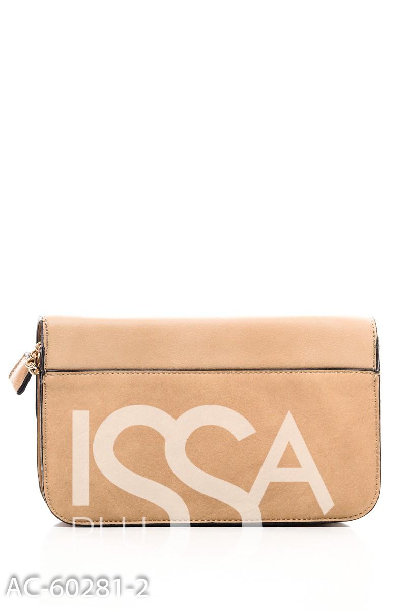 Бежевая сумочка с золотистым замочком