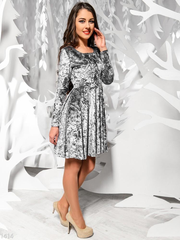 Платье из велюра+фото