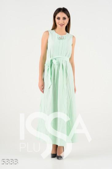 Мятное летнее платье в пол без рукавов фальш-ожерельем  545 грн. фото 1 49d36d6bc85
