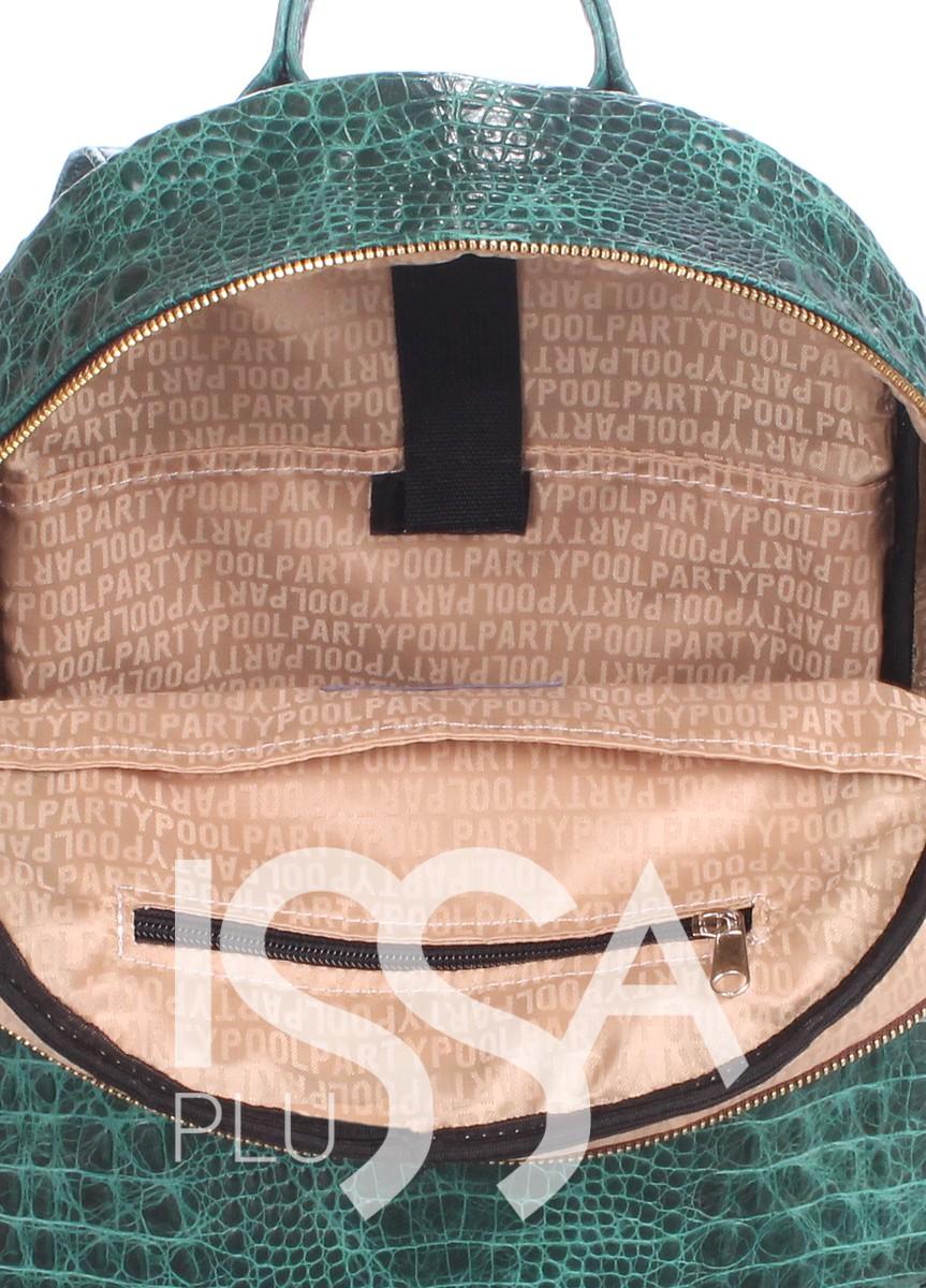 Зеленый рюкзак из кожи под рептилию