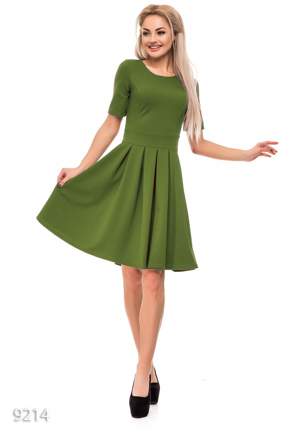 7c2fbca7b44 Пышное однотонное платье оливкового цвета  286 грн. фото 2 ...